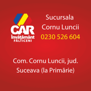 cornu luncii car invatamant falticeni