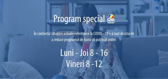 program special car invatamant falticeni coronavirus